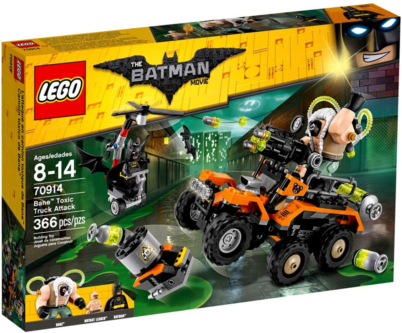 Truck Batman Bane Toxic Set70914damaged Lego Attack Dc Movie Package The dCexoWrB