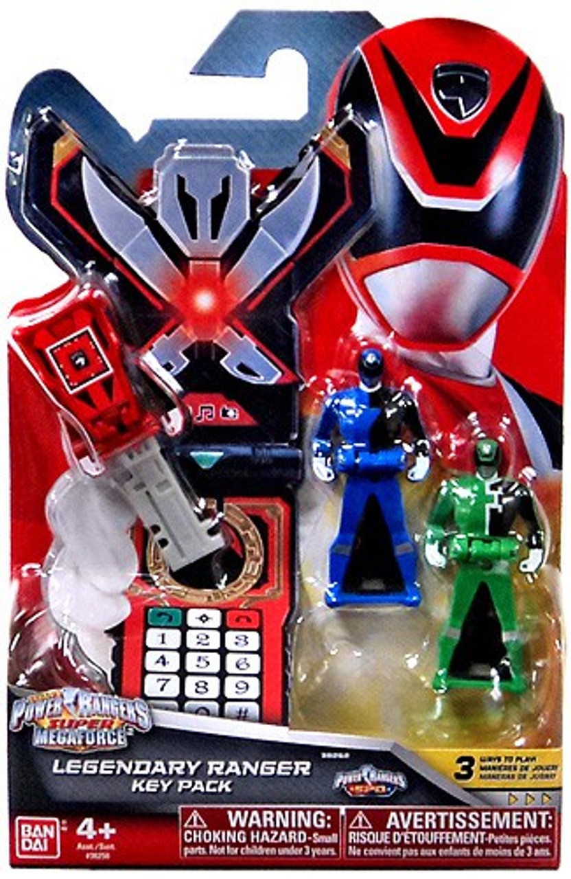 Power Rangers Super Megaforce Legendary Ranger Key Pack Roleplay Toy [SPD,  Red, Blue & Green, Damaged Package]