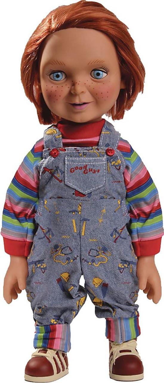 "Mezco Toyz Child/'s Play Mega Scale 15/"" Talking Good Guys Chucky Figure In Stock"