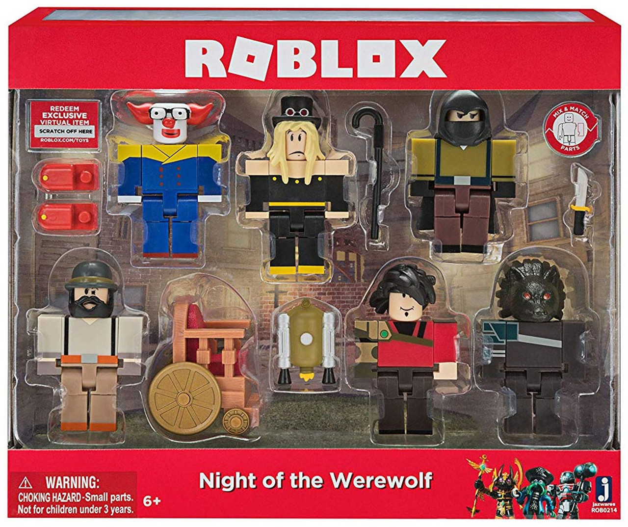 Roblox Night Of The Werewolf Action Figure 6 Pack - how to make your roblox game day and night