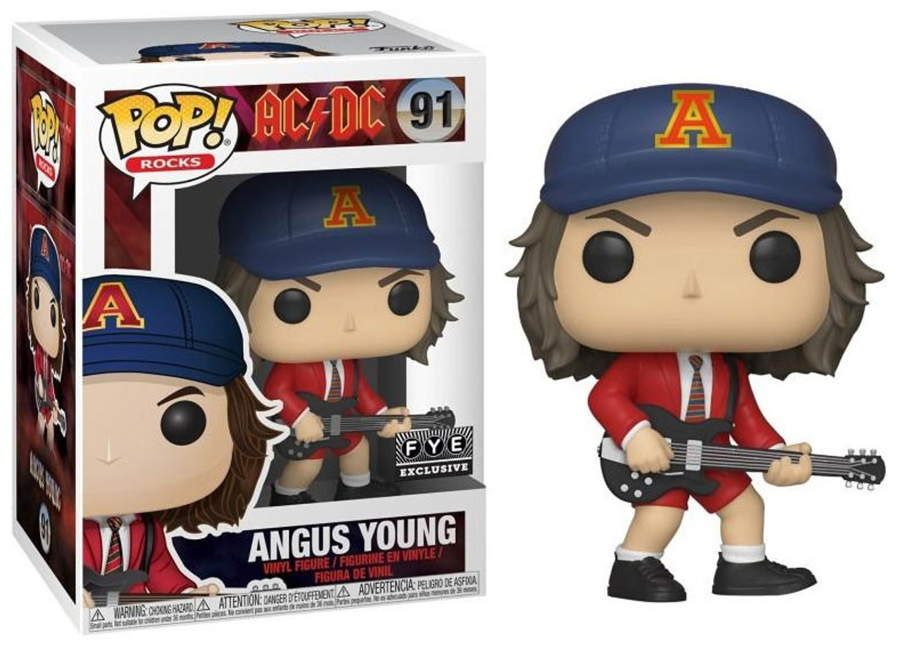 "MUSIC ROCKS AC//DC Figurine ANGUS YOUNG N° 91 /""POP/"" FUNKO"