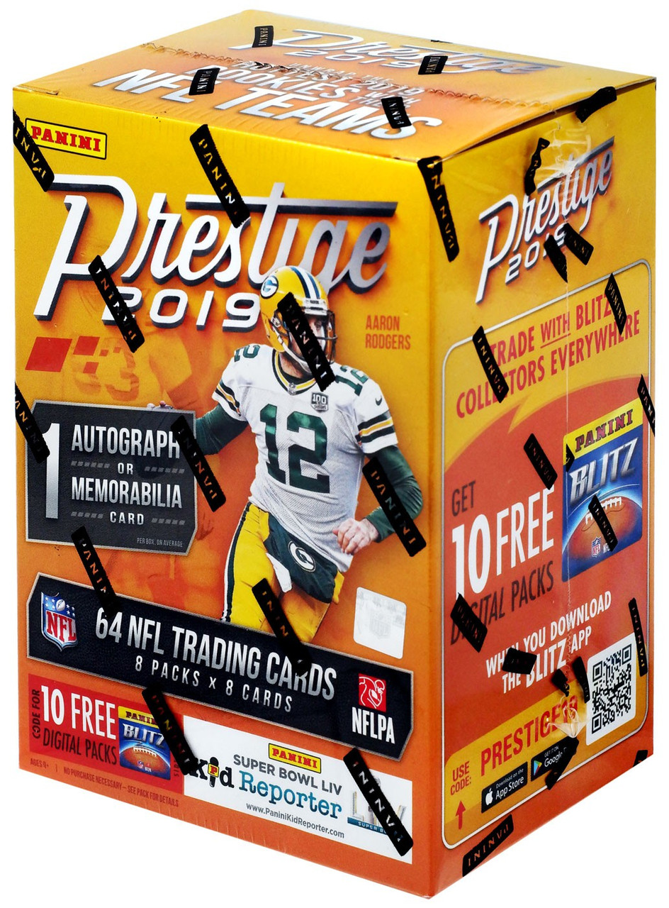 NFL 2019 Prestige Football Trading Card BLASTER Box [8 Packs]