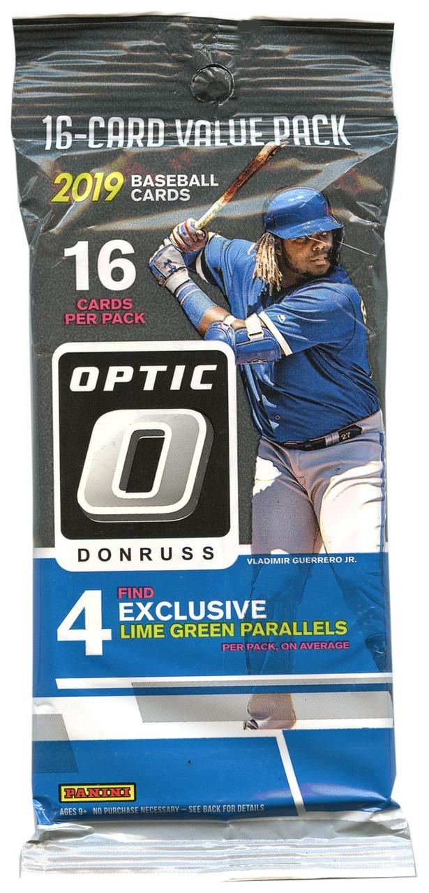 Mlb 2019 Donruss Optic Baseball Trading Card Fat Pack Pre Order Ships September