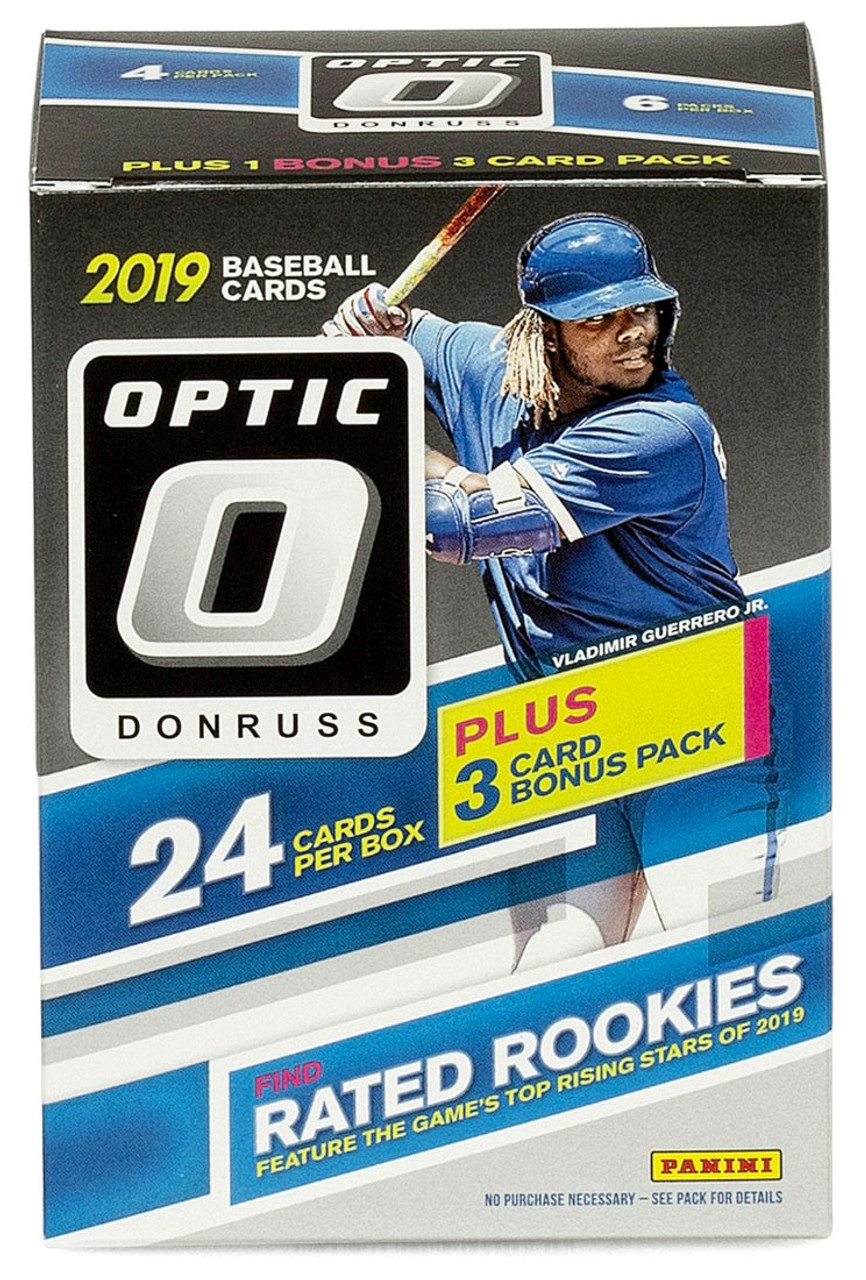 Mlb 2019 Donruss Optic Baseball Trading Card Blaster Box 7 Packs 3 Pink Base Parallel Exclusive Pre Order Ships September