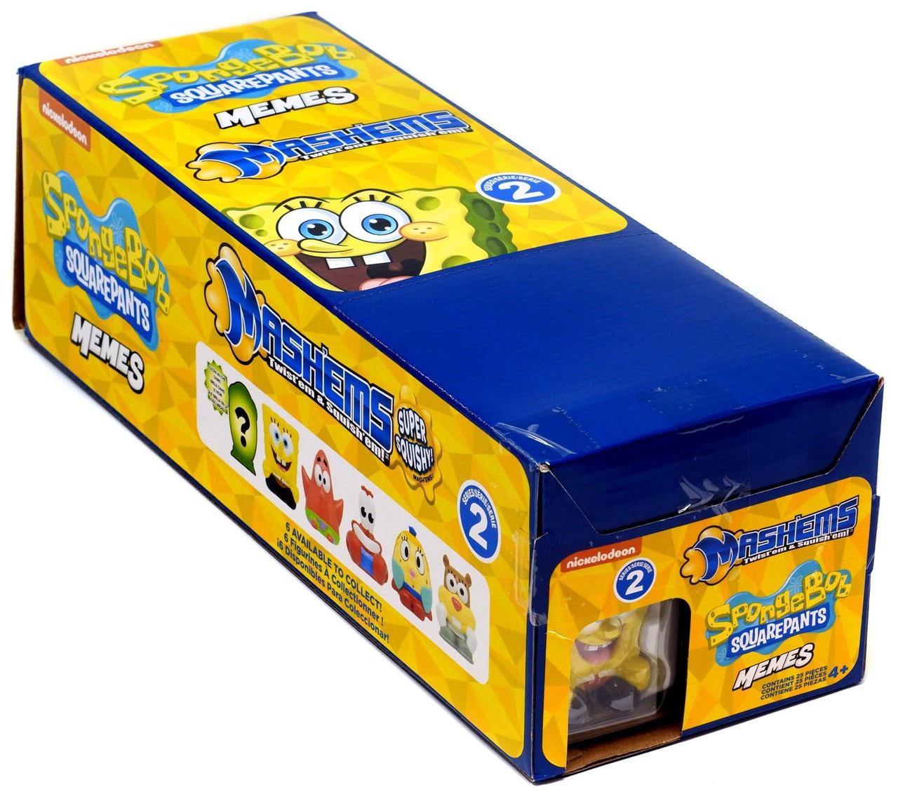 Spongebob squarepants mashems series 2 memes mystery box 25 packs tech4kids toywiz