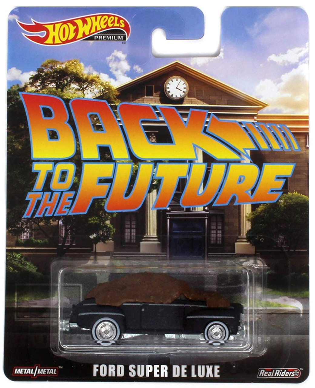 Back to the Future Hot Wheels Real Riders Ford Super De Luxe 164 Die