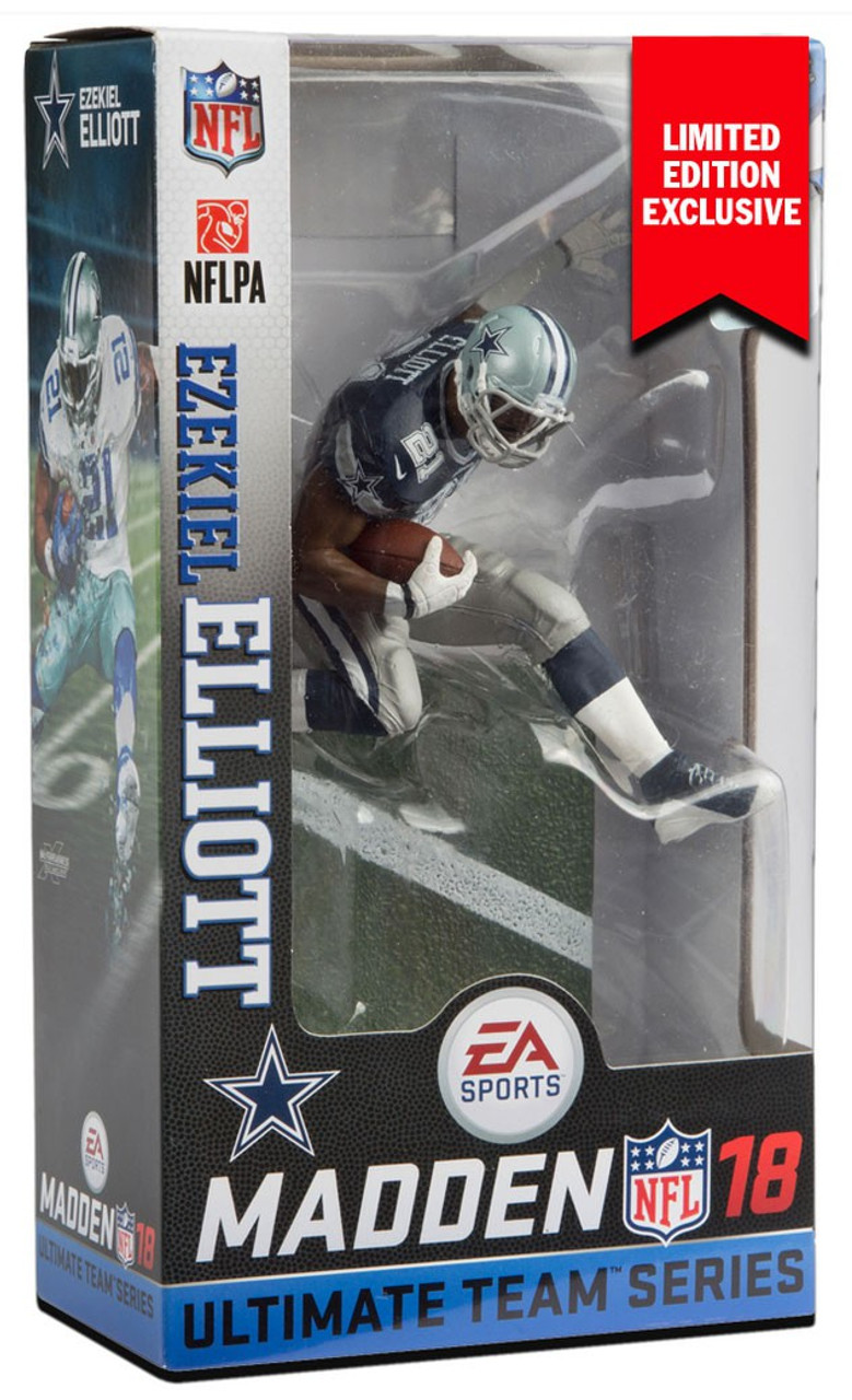 sports shoes a4077 cc45a McFarlane Toys NFL Dallas Cowboys EA Sports Madden 18 Ultimate Team Series  2 Ezekiel Elliott Exclusive Action Figure [Blue Jersey, Limited Edition ...