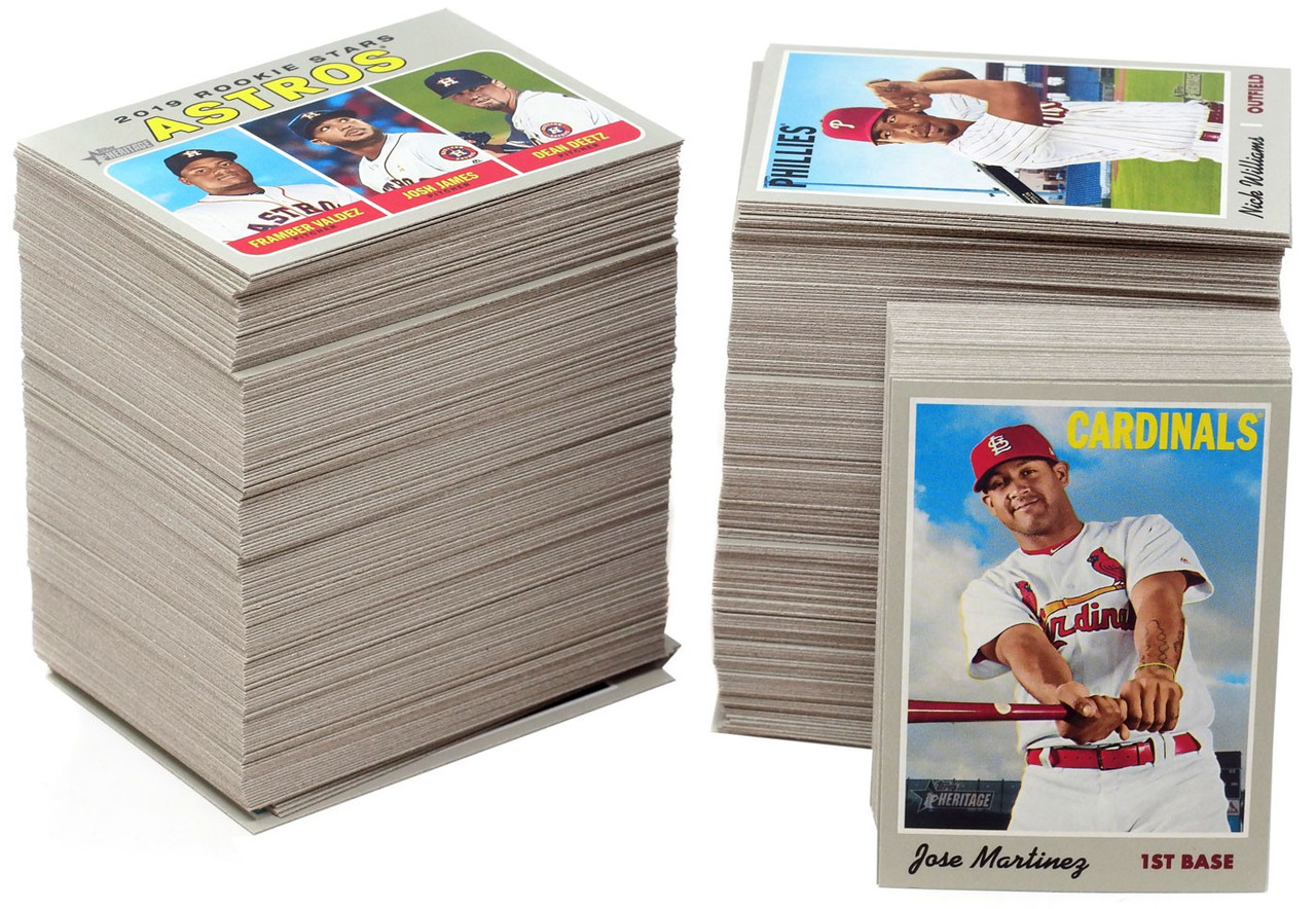 Mlb 2019 Topps Heritage Baseball Complete Hand Collated Trading Card Set 400 Cards No Short Prints