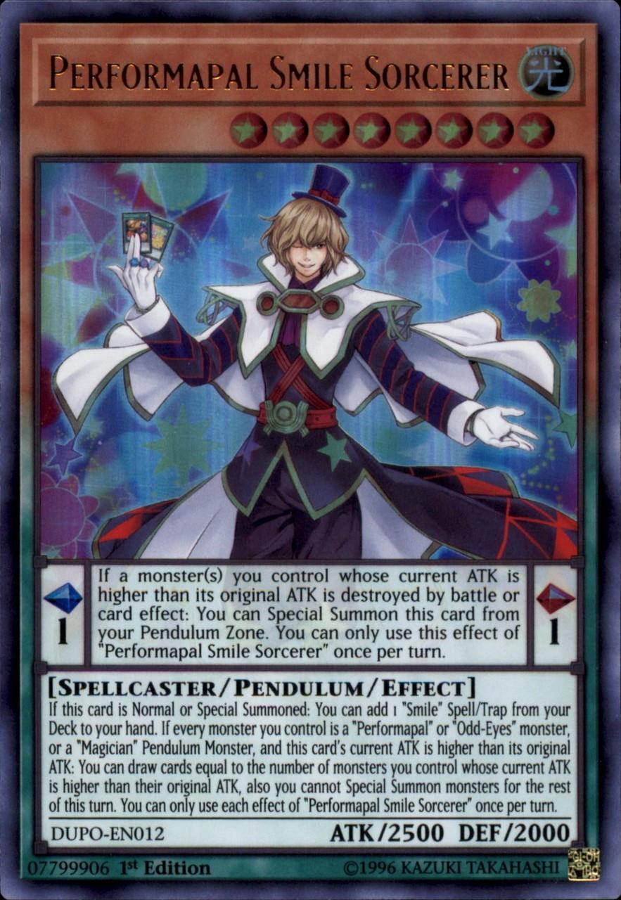 YuGiOh Duel Power Ultra Rare Performapal Smile Sorcerer DUPO-EN012
