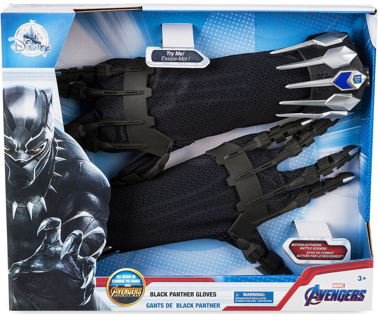 2019 Marvel Avengers Infinity War Black Panther Gloves Exclusive Roleplay Toy
