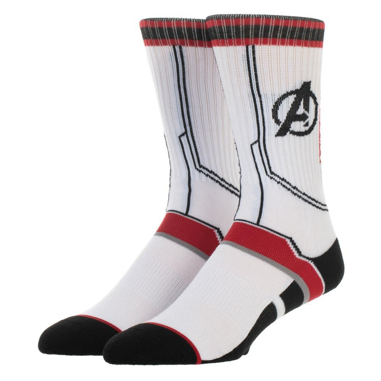 9a34b987b224 Marvel Avengers Endgame Suit Up Athletic Mens Crew Socks Bioworld LD -  ToyWiz