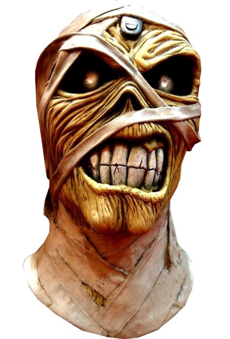 Iron Maiden Aces High Powerslave Mummy Eddie Costume Prop Mask