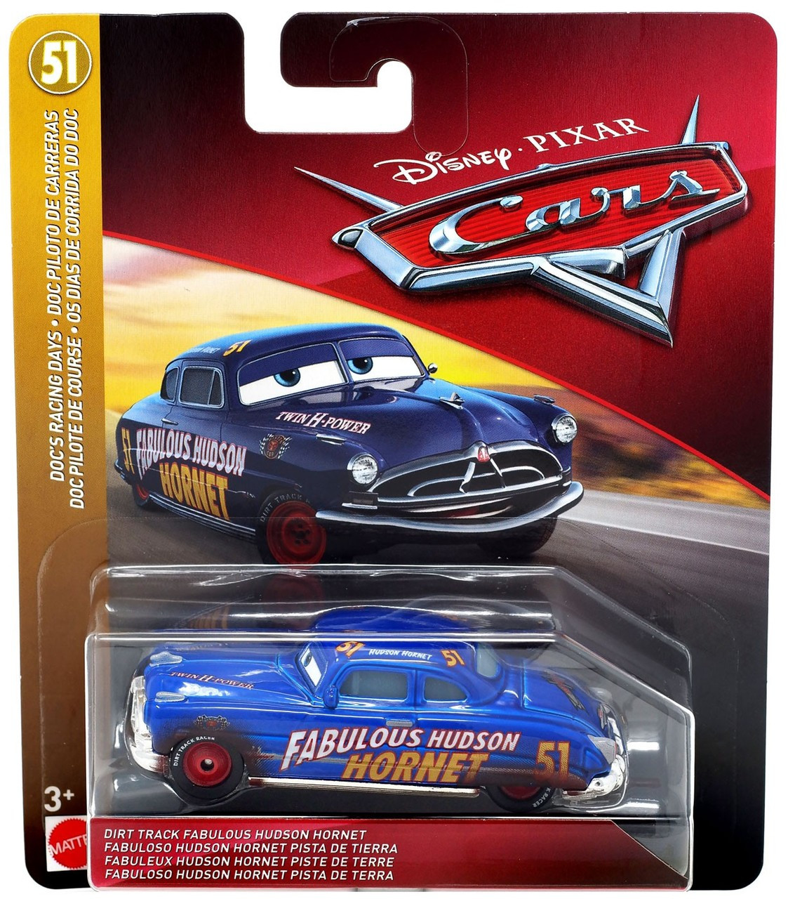 Disney Pixar Cars Cars 3 Docs Racing Days Dirt Track Fabulous Hudson