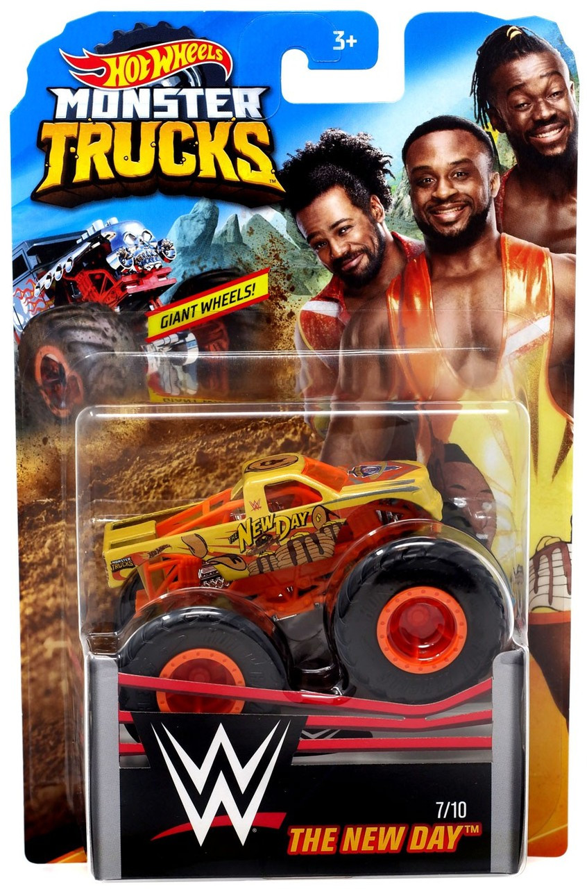 Hot Wheels Monster Trucks Wwe The New Day 164 Diecast Car Mattel Toys Toywiz