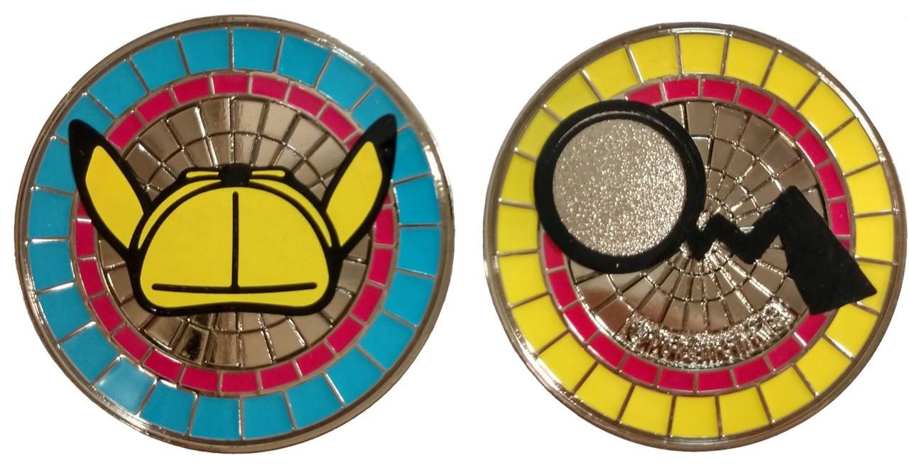 detective pikachu metal coin
