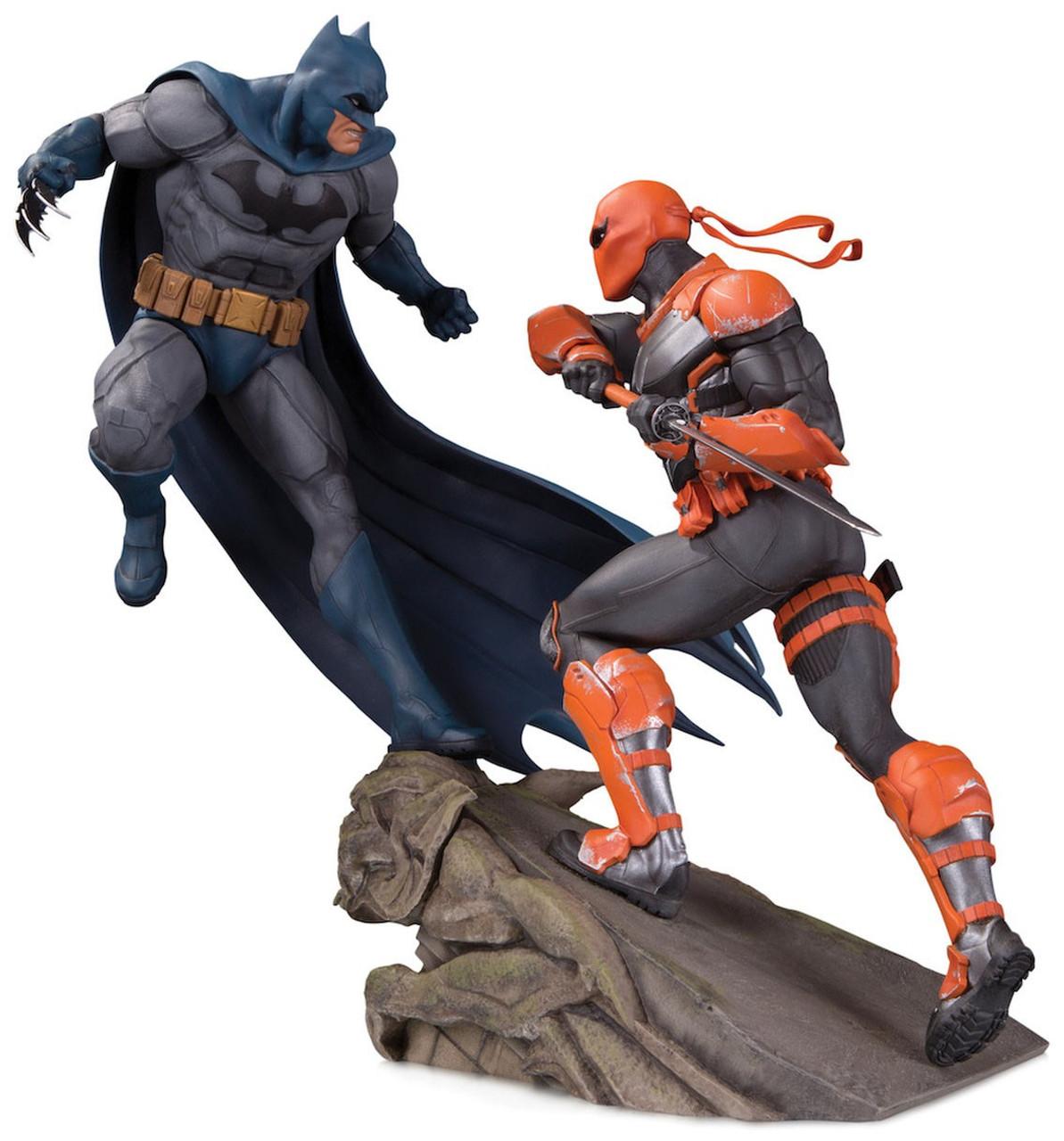 DC Batman Batman Vs. Deathstroke 11.2 Mini Battle Statue DC Collectibles - ToyWiz