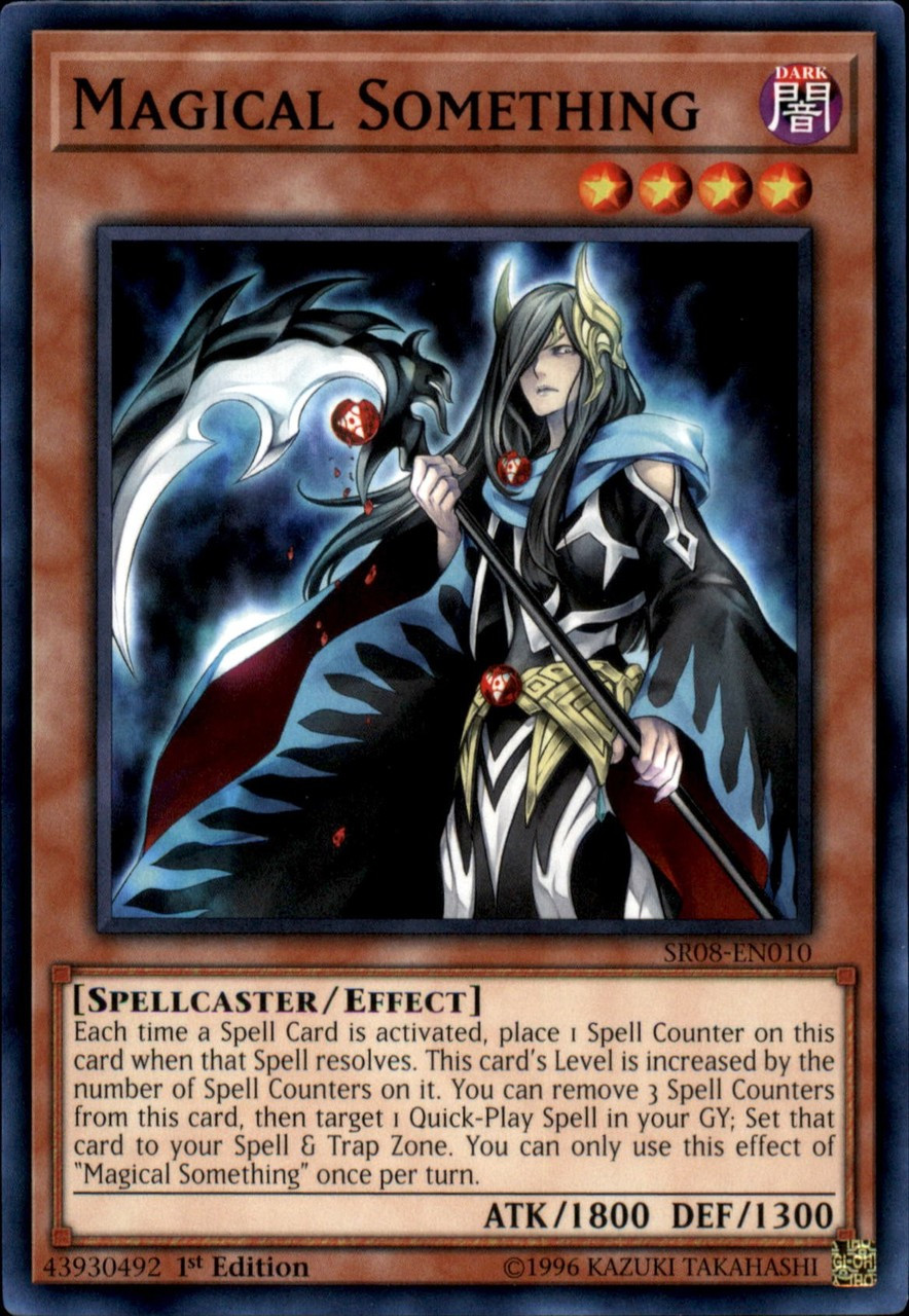 YuGiOh Structure Deck: Order of the Spellcasters Common Magical Something  SR08-EN010