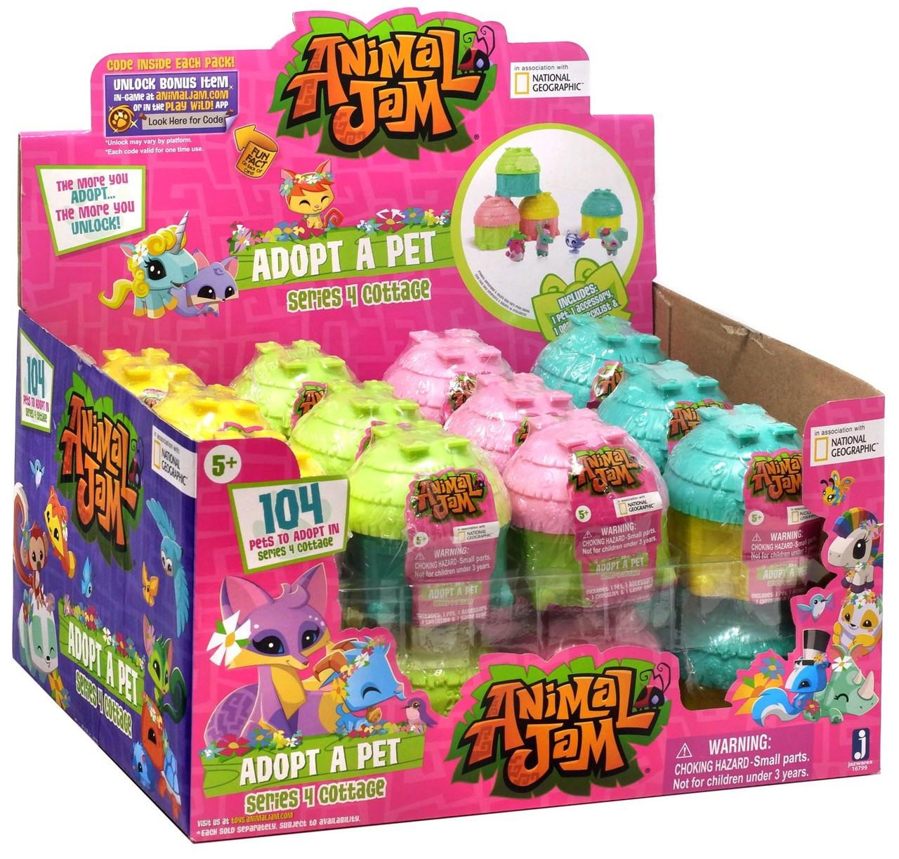Animal Jam Adopt A Pet Series 4 Cottage Adopt A Pet Mystery Box [24 Packs]