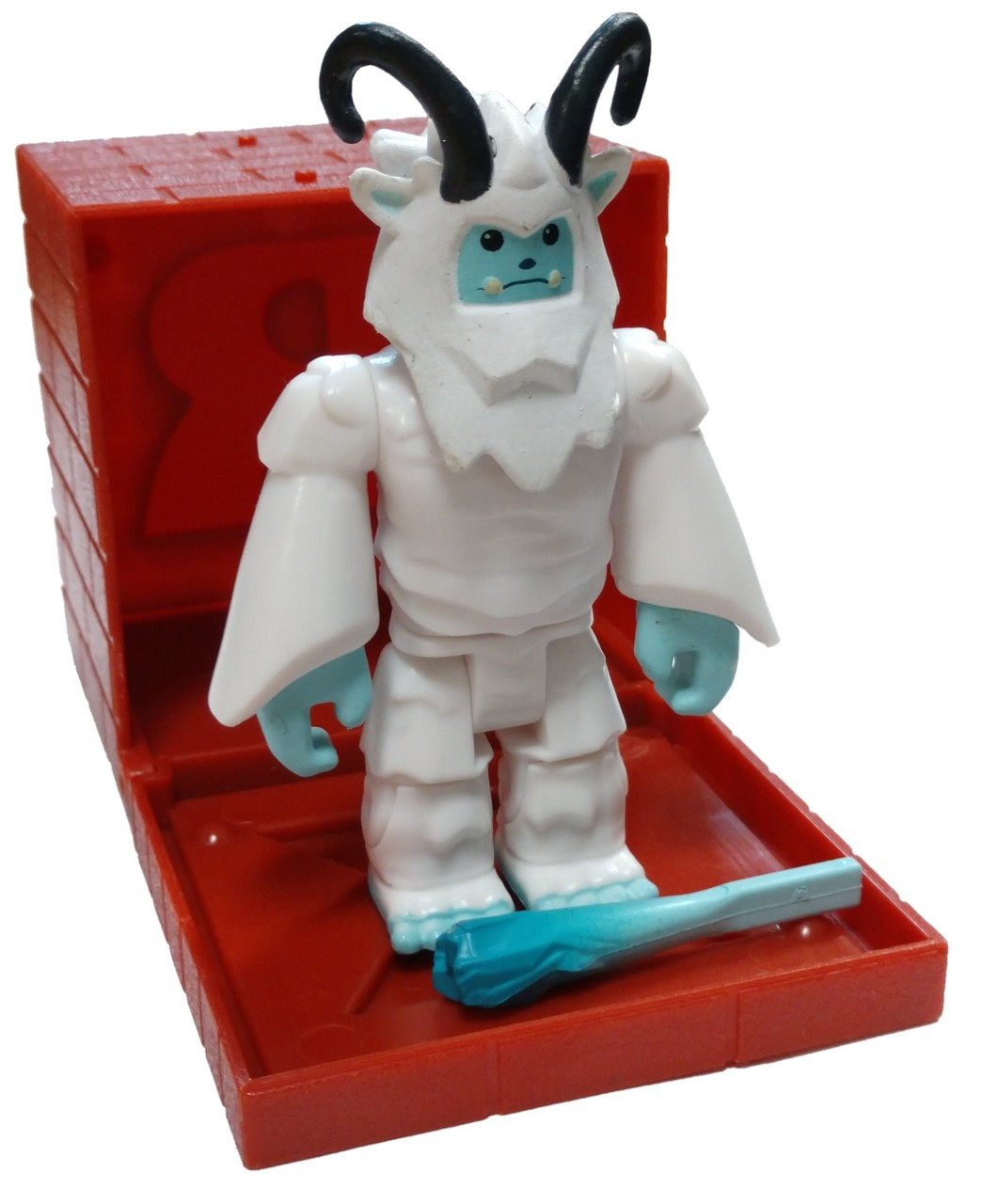Roblox Series 4 - Roblox Red Series 4 Yeti Mini Figure With Red Cube And Online Code Loose