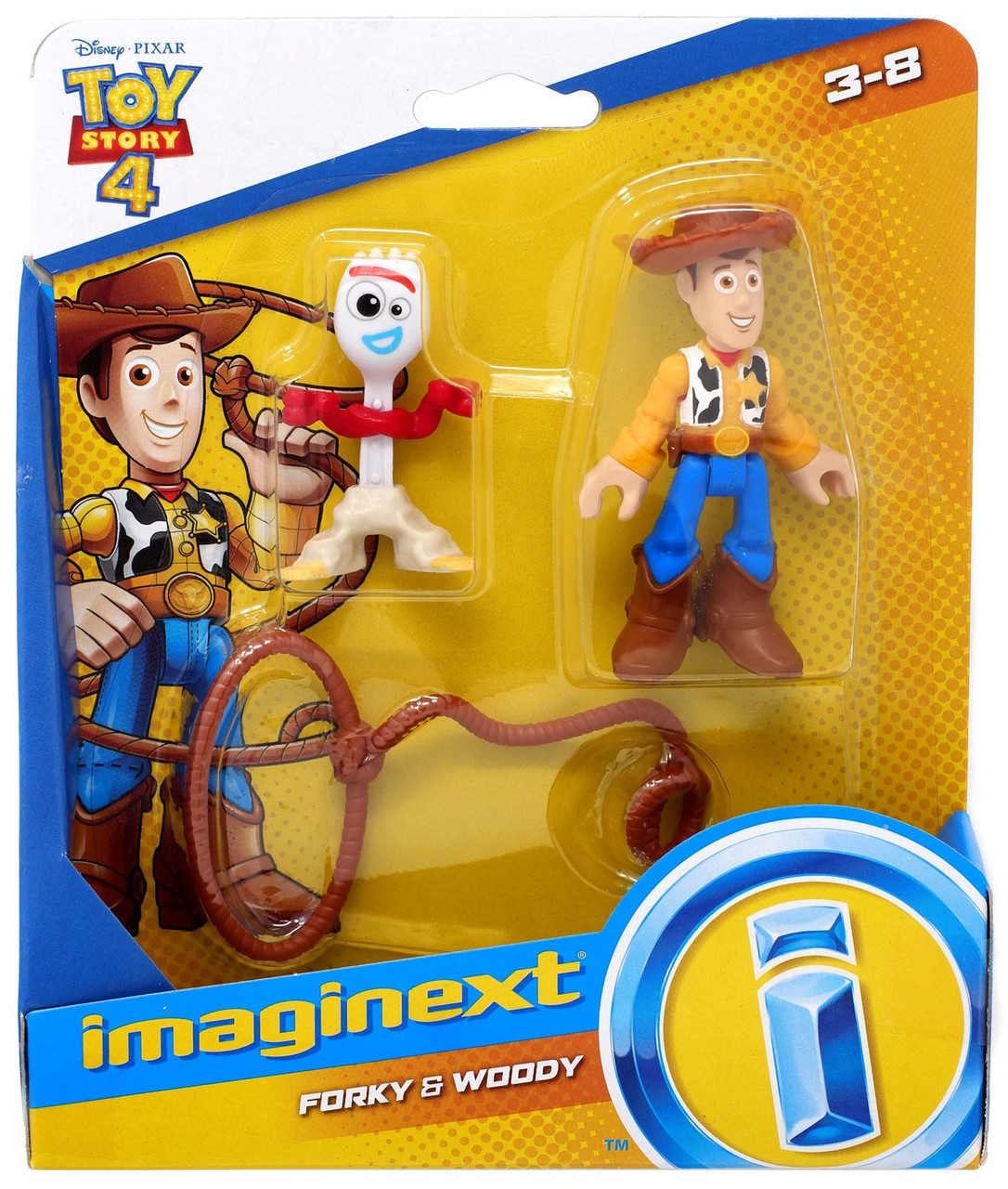 """Disney Pixar Toy Story 4 FORKY 8/"""" Pull /& Go Figure 2019 NEW With Whacky Action!"""