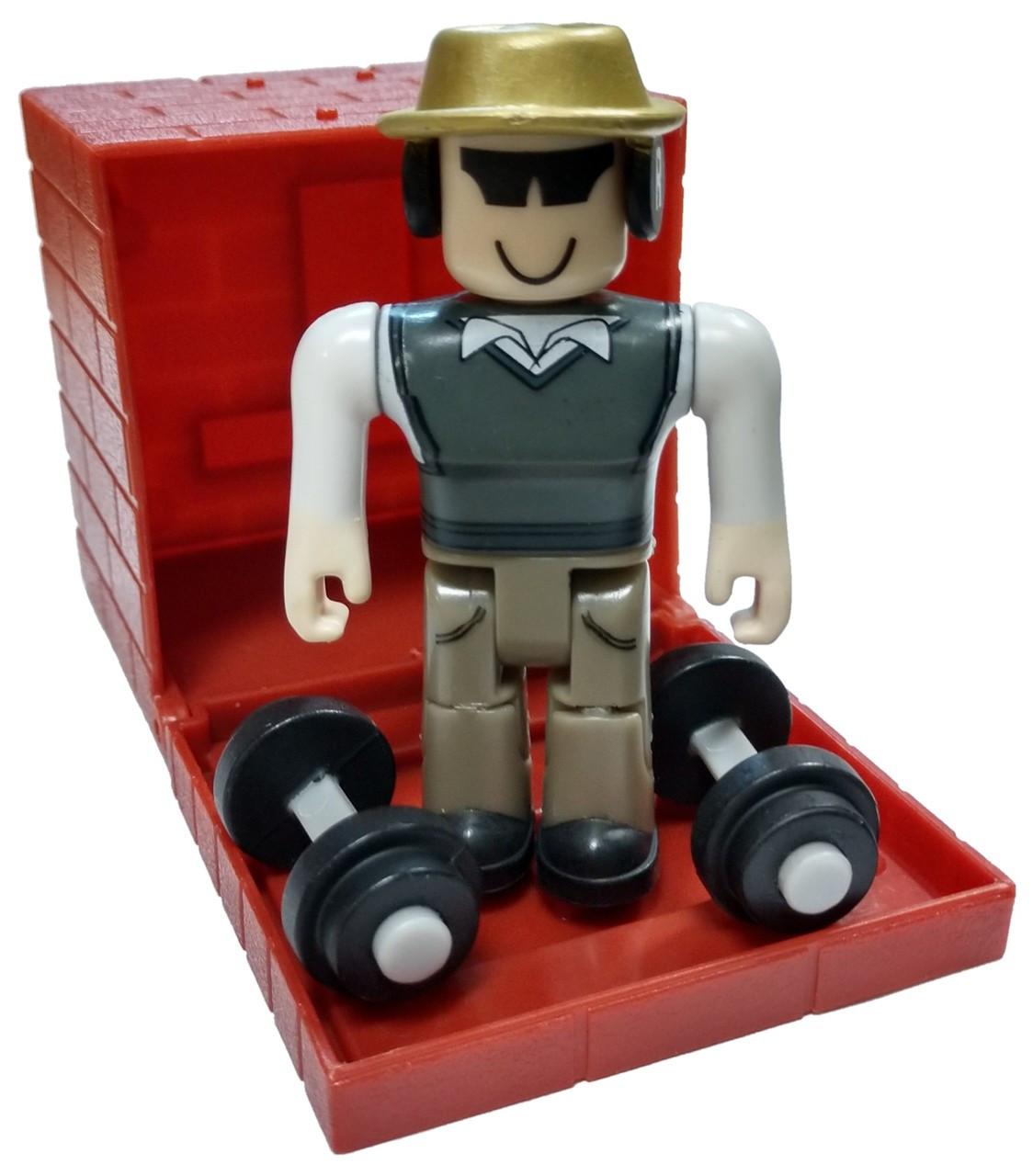 Roblox Series 4 - Roblox Red Series 4 Badcc Mini Figure With Red Cube And Online Code Loose
