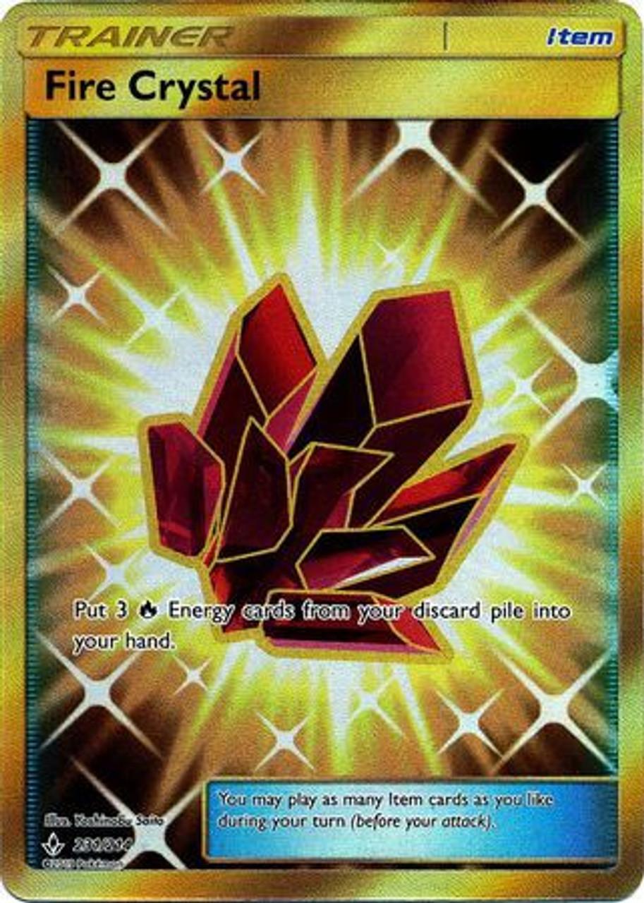 Pokemon Sun & Moon Unbroken Bonds Secret Rare Fire Crystal #231