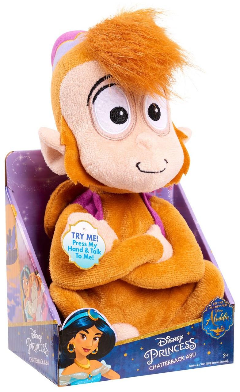 Official Disney Store Aladdin Abu The Monkey Chatterback Talking Soft Plush Toy