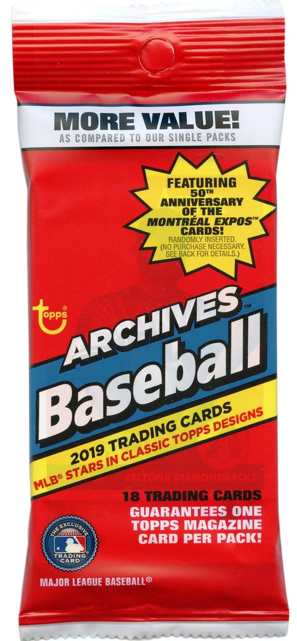 Mlb 2019 Topps Archives Baseball Trading Card Fat Pack Pre Order Ships September