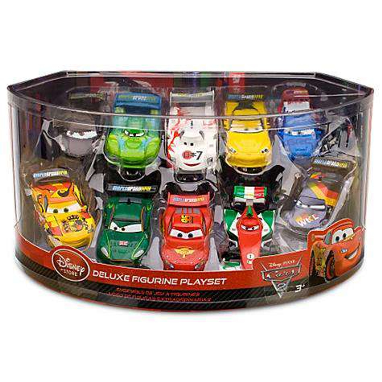 Cars Cars 2 Playsets Lightning McQueen Pit Crew Exclusive PVC Figurine Set
