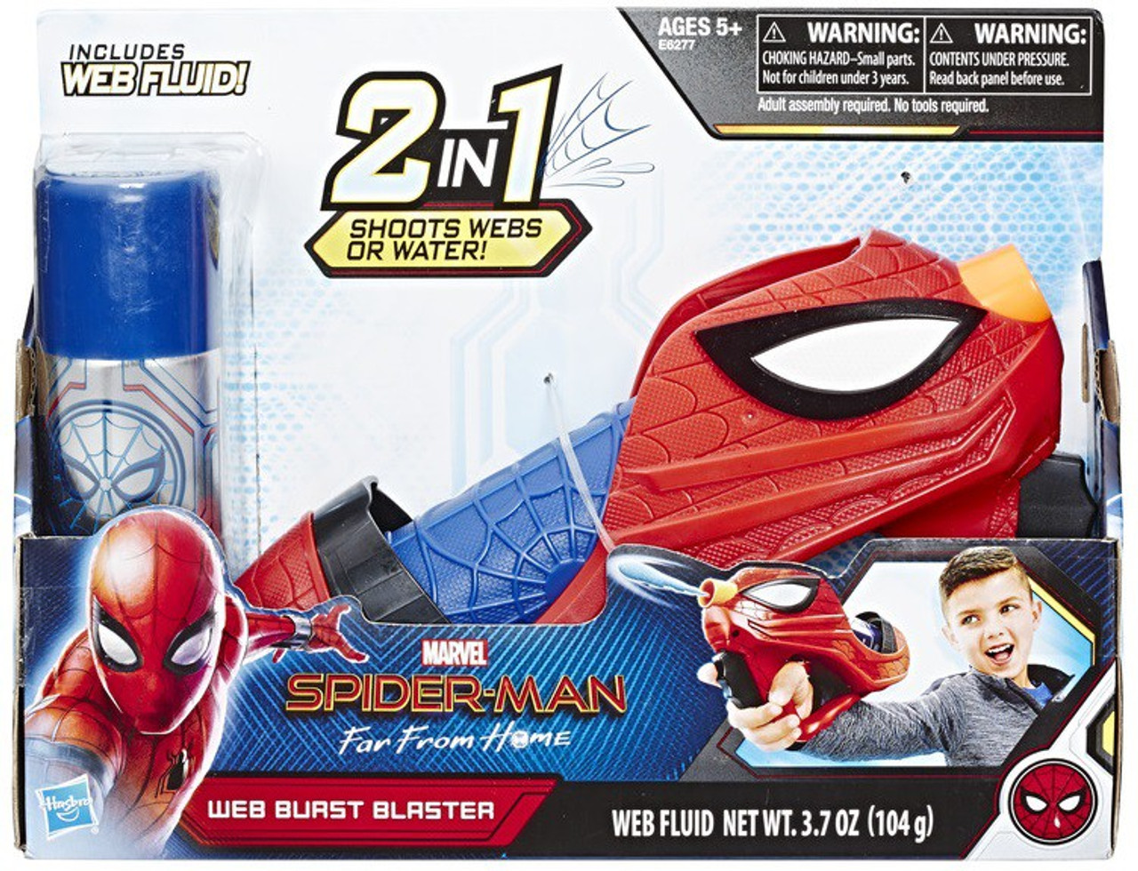 Marvel Spider-Man Far From Home Web Shots Web Burst Blaster Roleplay Toy  (Pre-Order ships August)