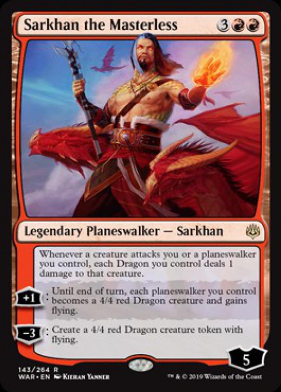 Magic the Gathering MTG War of the Spark Sarkhan the Masterless 143//264 Japanese