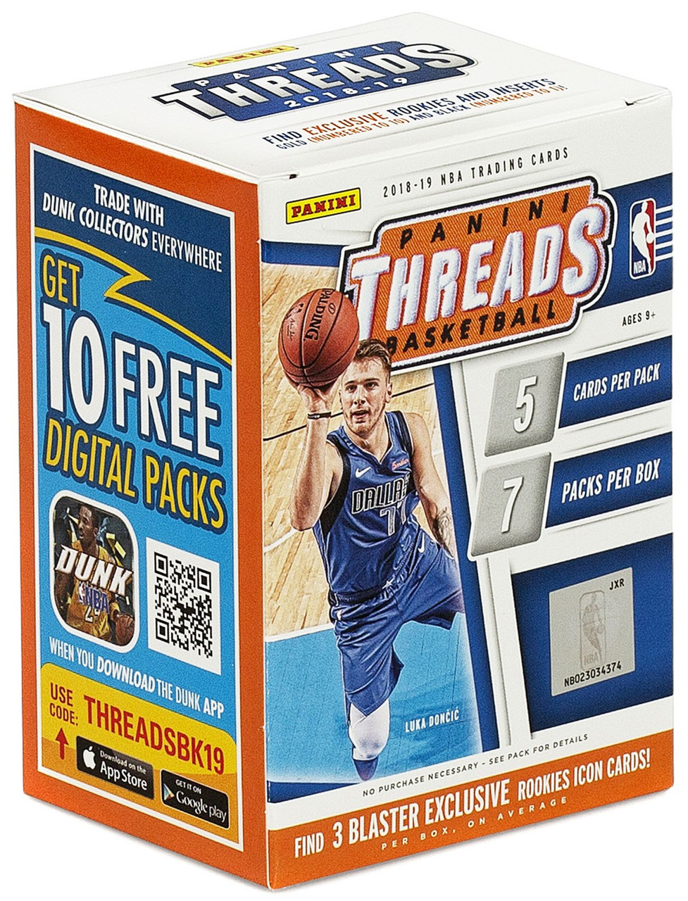 Nba 2018 2019 Threads Basketball Trading Card Blaster Box
