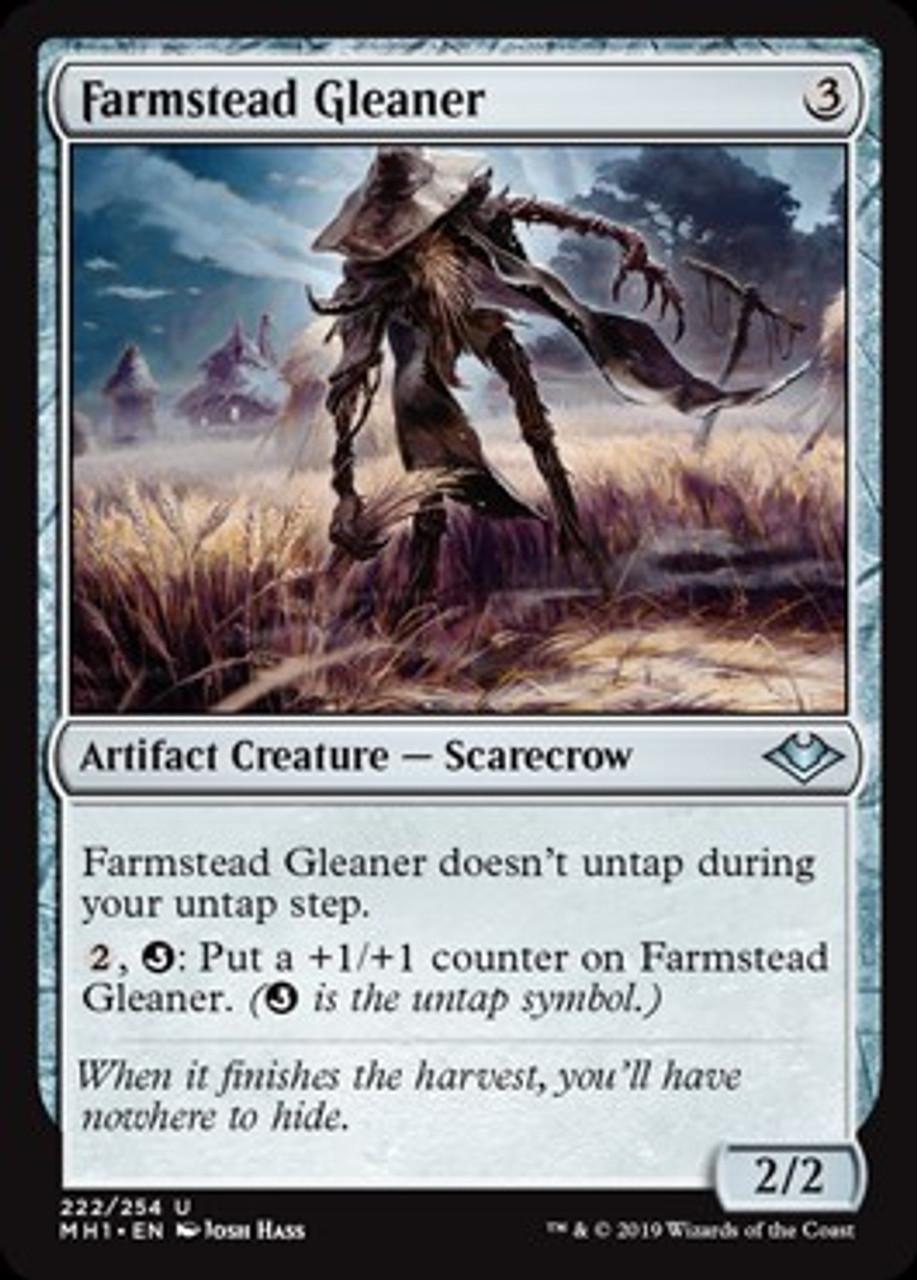 MTG Magic card Farmstead Gleaner Modern Horizons Uncommon #222 Mint
