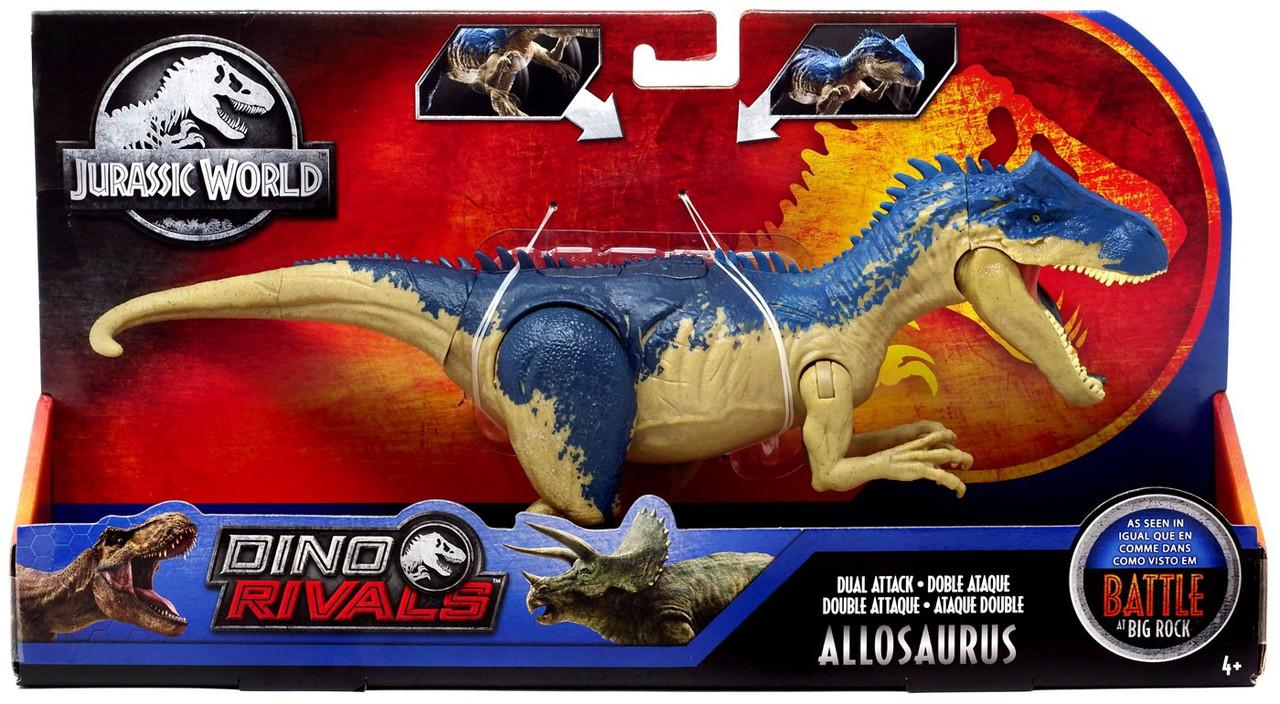 Allosaurus Roblox Jurassic Park Jurassic World Fallen Kingdom Dino Rivals Allosaurus Action Figure Dual Attack Mattel Toywiz