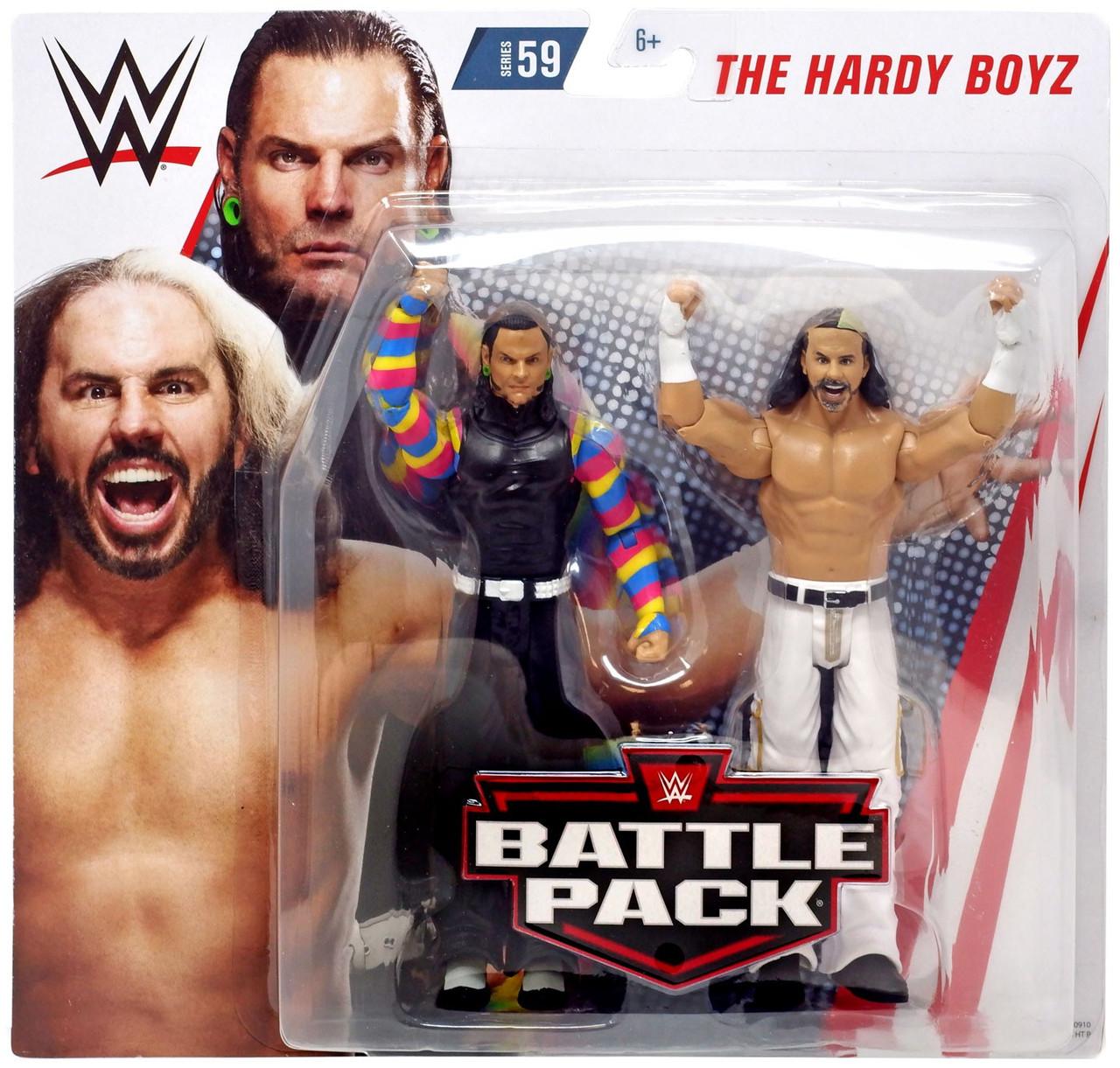 WWE MATTEL BASIC BATTLE PACK WRESTLEMANIA JEFF HARDY WRESTLING FIGURE THE BOYZ