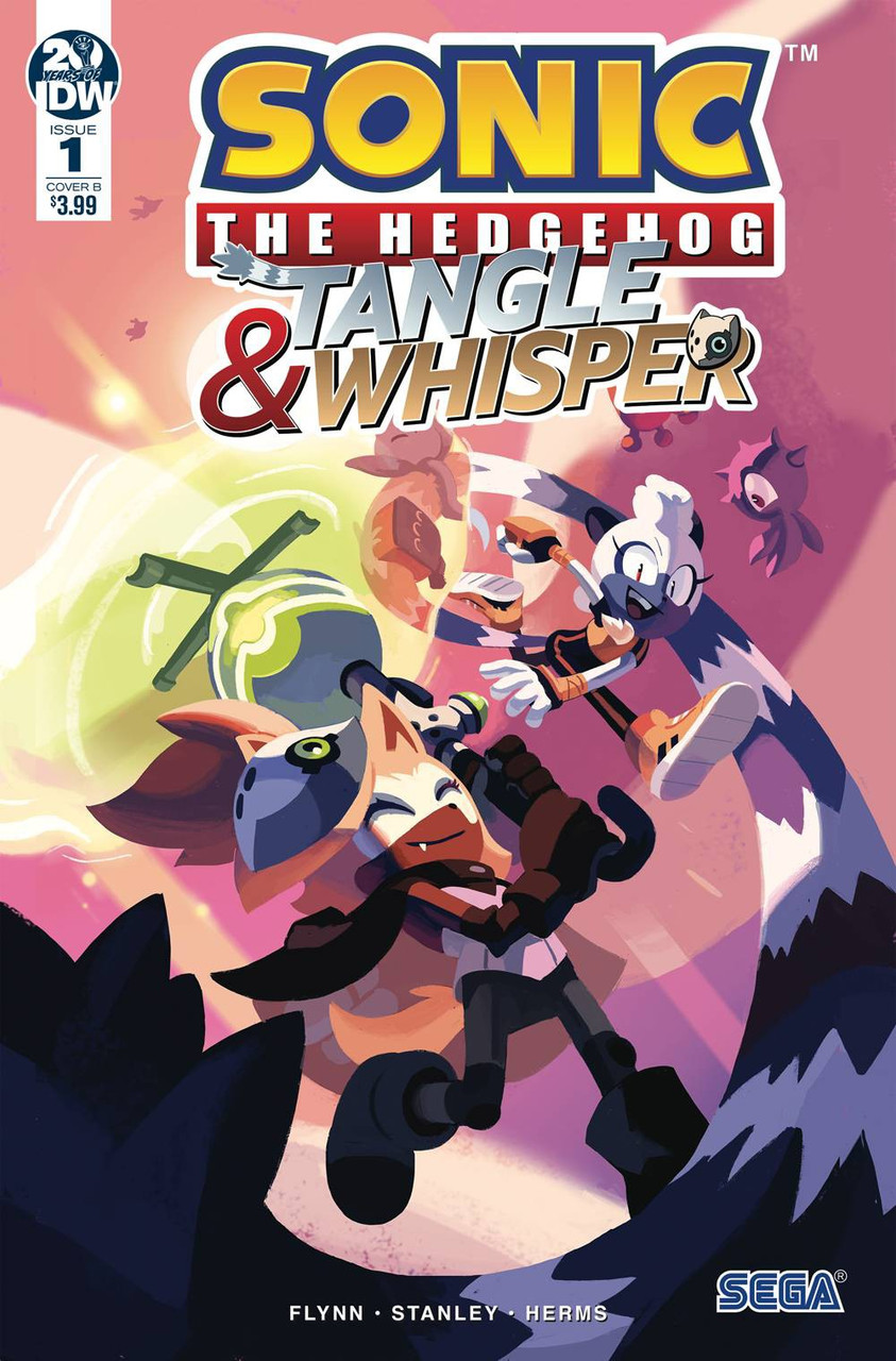 Idw Sonic The Hedgehog Tangle Whisper Comic Book 1 Of 4 Nathalie Fourdraine Variant Cover Idw Publishing Toywiz