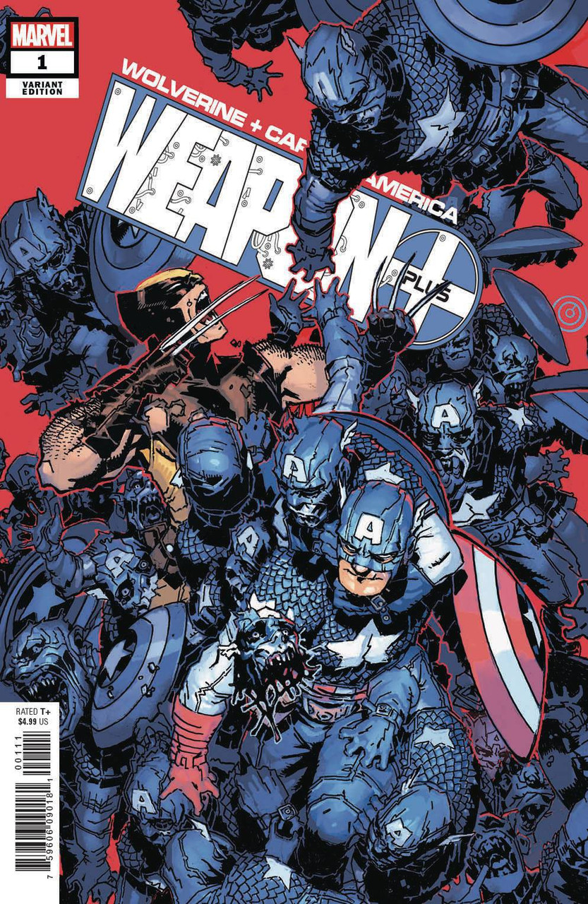 Marvel Wolverine and Captain America Weapon Plus #1 Comic Book [Chris  Bachalo Variant Cover]