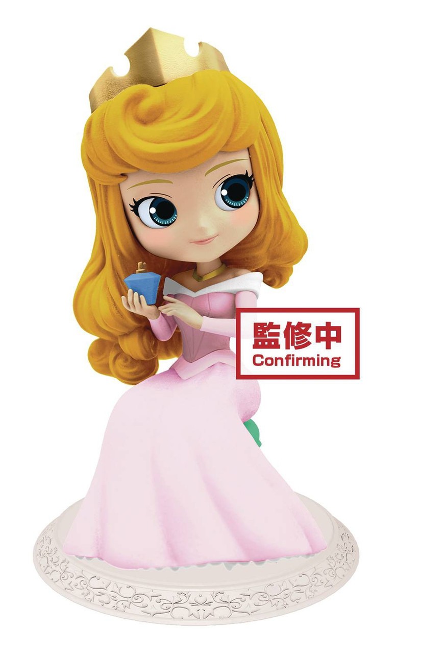 Princess Sleeping Beauty Aurora In Pink Dress 3-Inch PVC Figure Glitter Loose