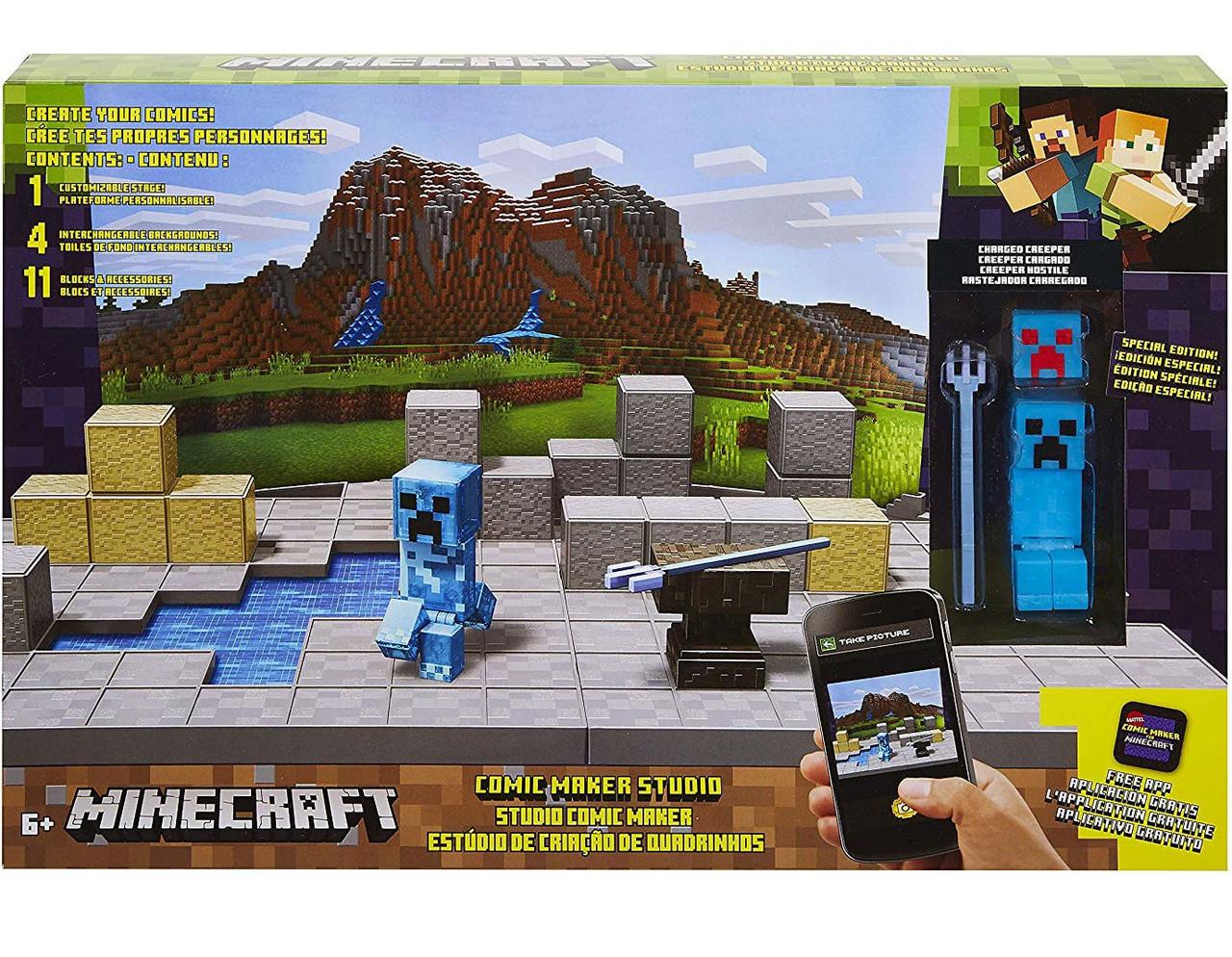 Minecraft Comic Maker Studio Playset