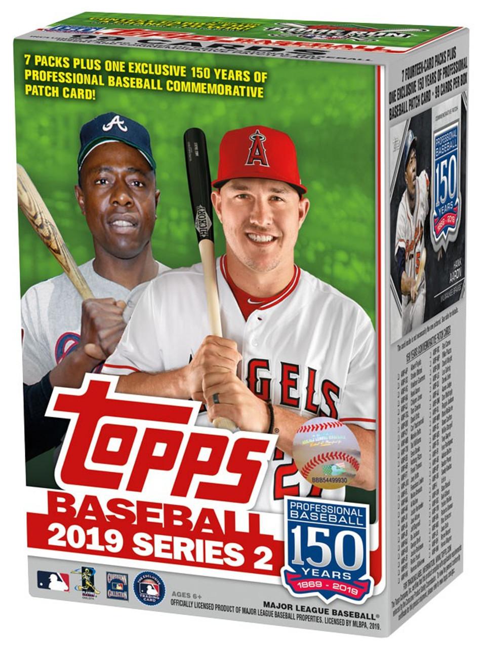 Mlb 2019 Baseball Series 2 Trading Card Blaster Box 7 Packs