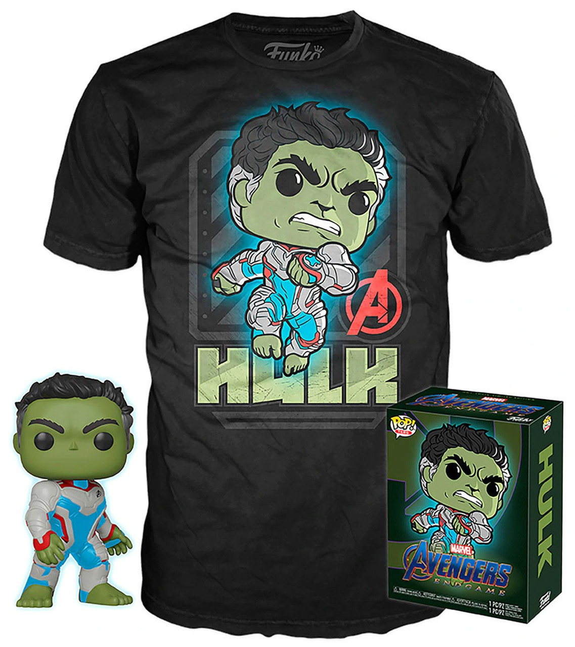 Avengers Endgame Funko POP! Marvel Hulk Exclusive Vinyl Figure & T-Shirt  [X-Small]