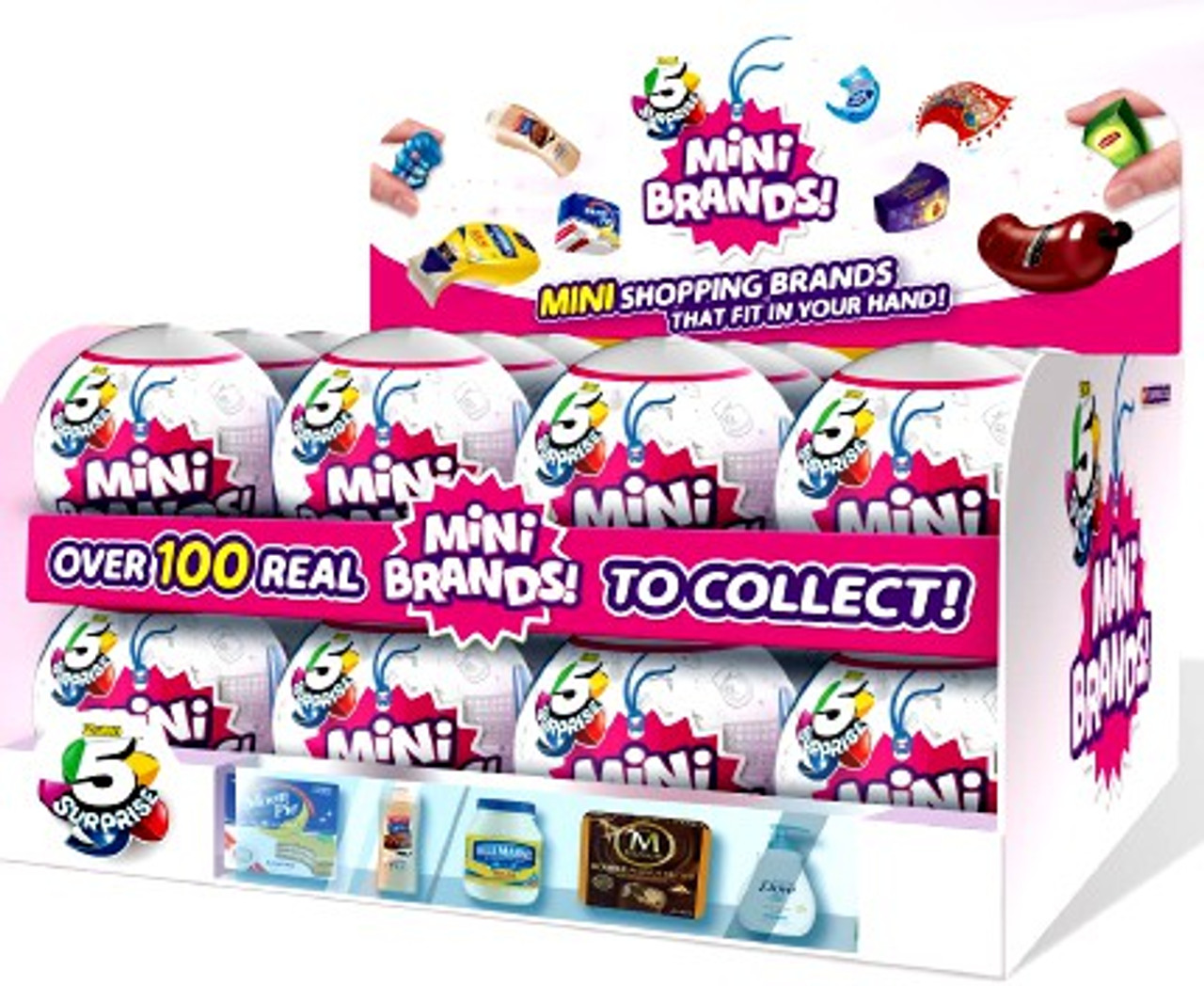 5 Surprise Mini Brands Mystery Box 24 Packs Zuru Toys Toywiz