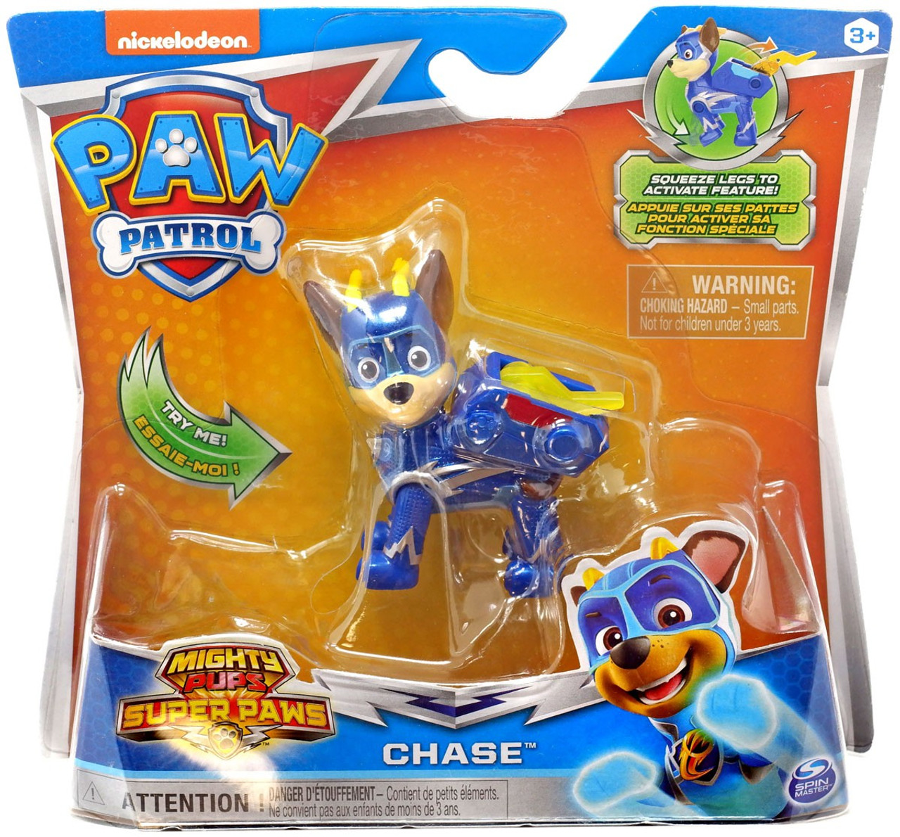 Paw Patrol Mighty Pups Super Paws Chase Figure