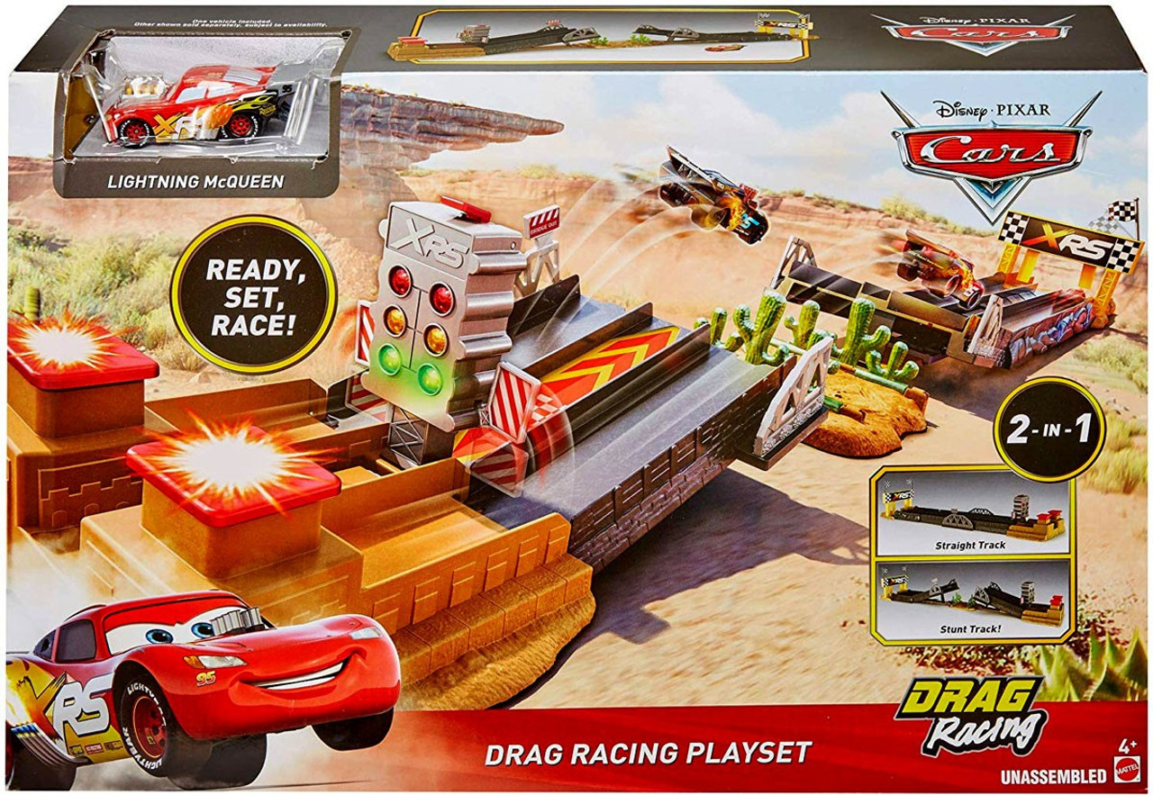 Disney Pixar Cars Cars 3 Xrs Xtreme Racing Drag Racing Playset