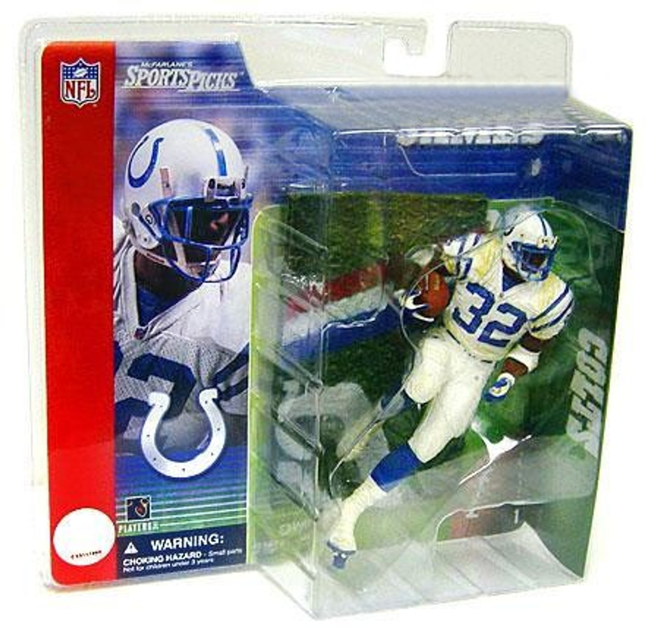 premium selection 07652 0eb97 McFarlane Toys NFL Indianapolis Colts Sports Picks Series 1 Edgerrin James  Action Figure [White Jersey, Damaged Package]