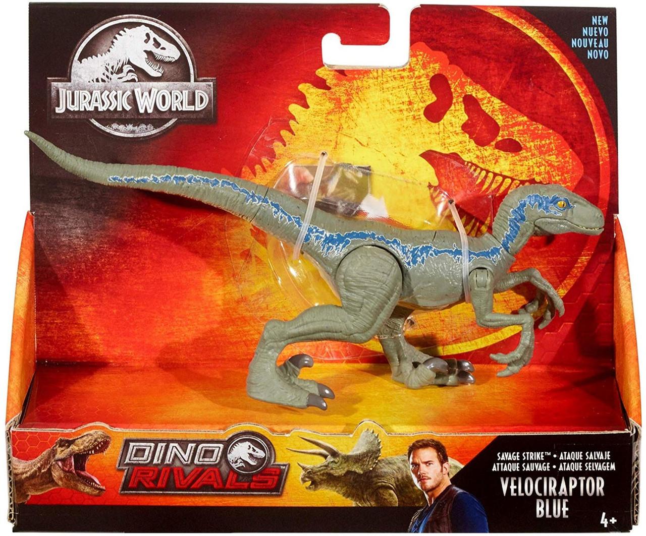 NEW Jurassic World Chomp N Roar Velociraptor Blue Dinosaur Mask  HARD TO FIND!
