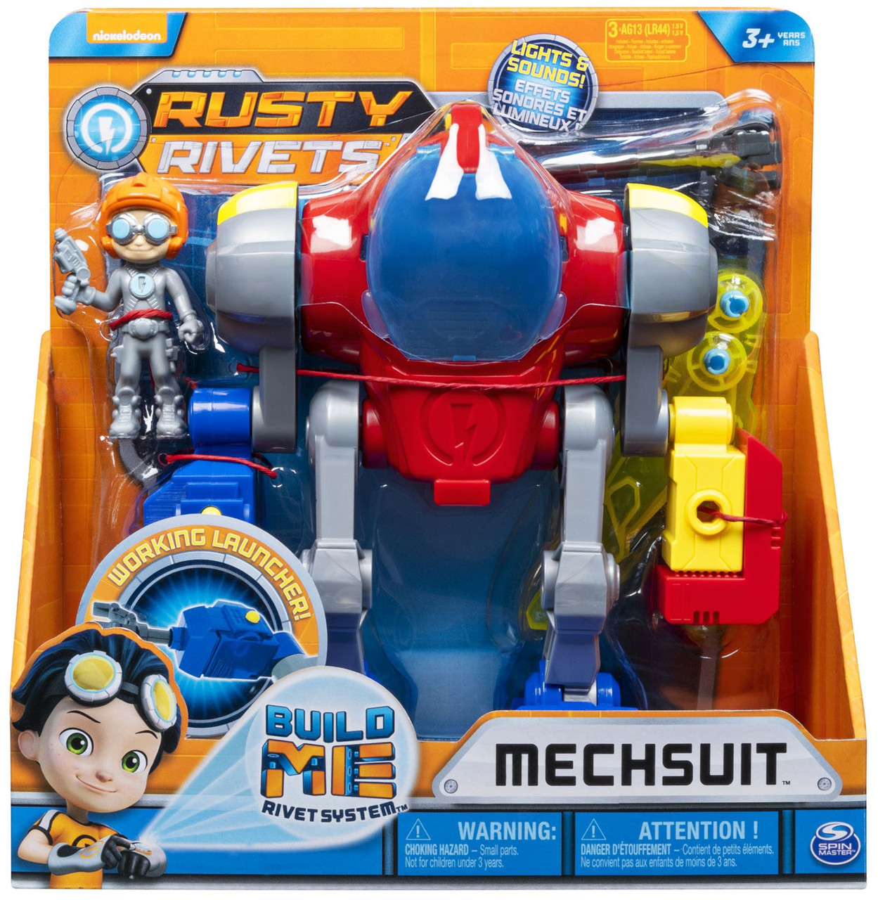 Nickelodeon Rusty Rivets Rusty /& Whirly Action Figure