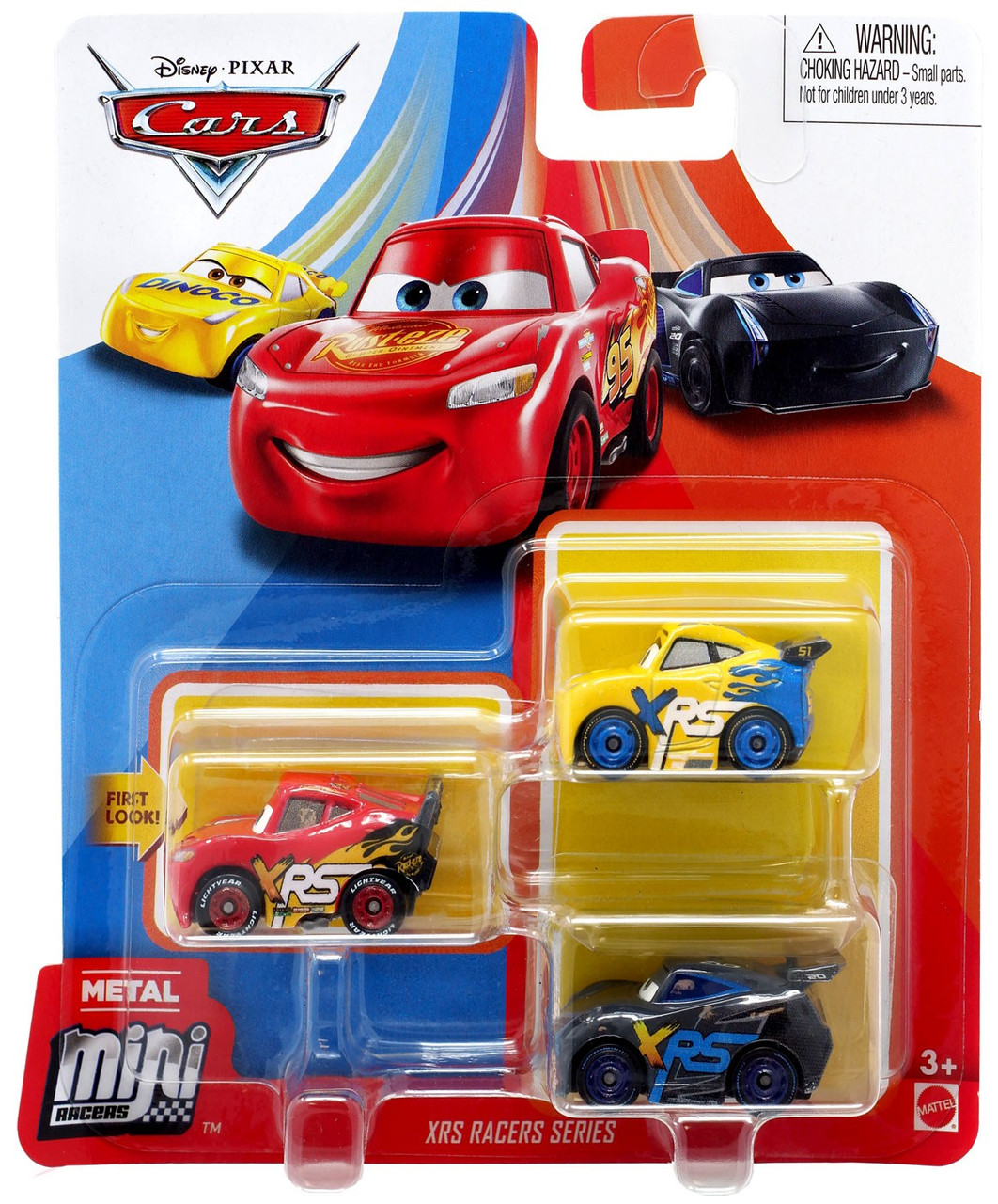 Disney Pixar Cars Die Cast Metal Mini Racers Xrs Racers Car 3 Pack