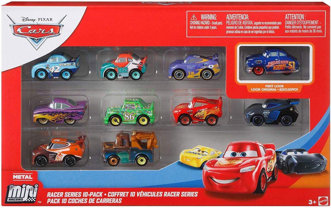 Disney Pixar Cars Die Cast Mini Racers Racers 10 Pack Mattel Toys