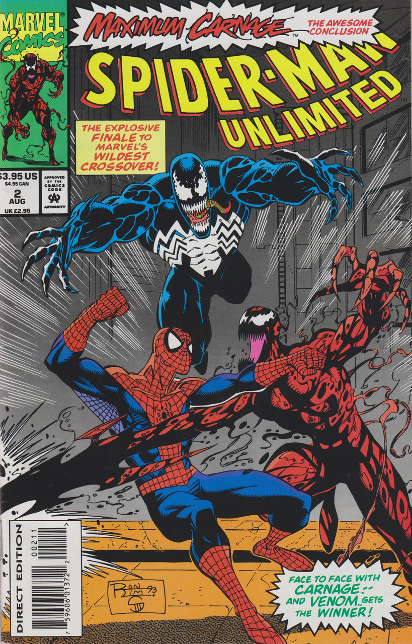 Marvel Comics Spider Man Unlimited Maximum Carnage Comic Book 2 Very